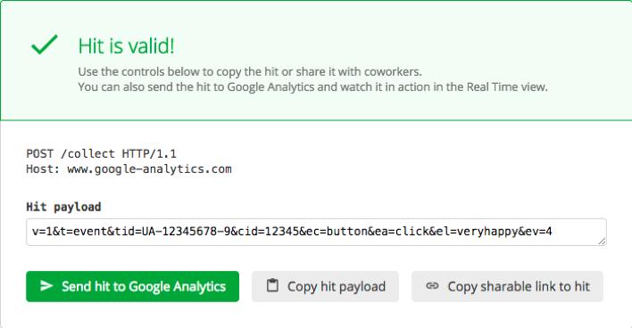 google analytics hit