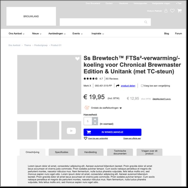 Brouwland wireframe desktop